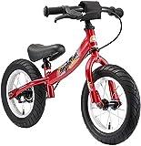 BIKESTAR Vélo Draisienne Enfants pour Garcons et Filles DE 3-4 Ans  Vélo sans pédales évolutive 12 Pouces Sportif  Rouge