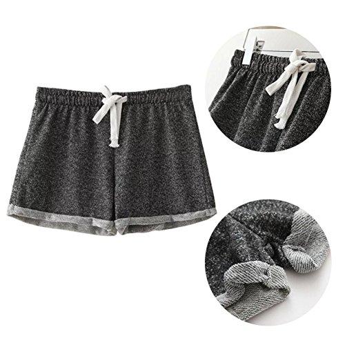 Etosell Femmes Casual De Taille Haute D'ete lache Short Pantalon Gris Fonce