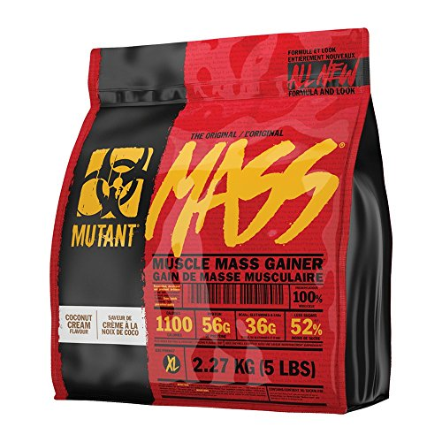 51rqbk111qL. SS500  - MUTANT MASS Weight Gainer Protein Powder with a Whey Isolate, Concentrate, and Casein Protein Blend, For High-Calorie…