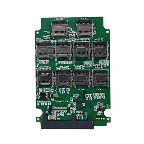 Vovotrade 10 x Micro SD TF-Speicherkarte auf SATA SSD-Adapter + RAID Quad 2.5