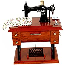 SHINA Caja Musical clásico Mini Máquina de Coser Antigua Caja de Música creativo amigo regalo de