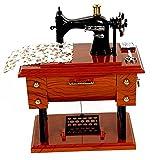 SHINA Caja Musical clásico Mini Máquina de Coser Antigua Caja de Música creativo amigo regalo de cumpleaños Hogar Artículos de Decoración