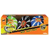 POOF-Slinky - Max Boom Foam 8-Inch Football, 6-Inch Basketball and 6-Inch Soccer Ball Max Sport Pack, 3-Pack, Assorted Colors, 0C8430BL by Poof