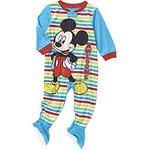 Disney Mickey Mouse Footed Pajama Blanket Sleeper Baby Boys' 24 Months Blue - Blue Footed Sleeper