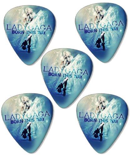 Lady Gaga Born This Way Premium Gitarre Plektrum Plektron Picks x 5 - Womens Born Zubehör