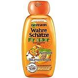 Garnier Wahre Schätze Shampoo für Kinder, mildes Kinder-Shampoo für leicht kämmbares Haar (mit Aprikose & Baumwollblüte - ohne Parabene - ohne Farbstoffe - ohne Silikone) 3er Pack (3 x 250 ml)