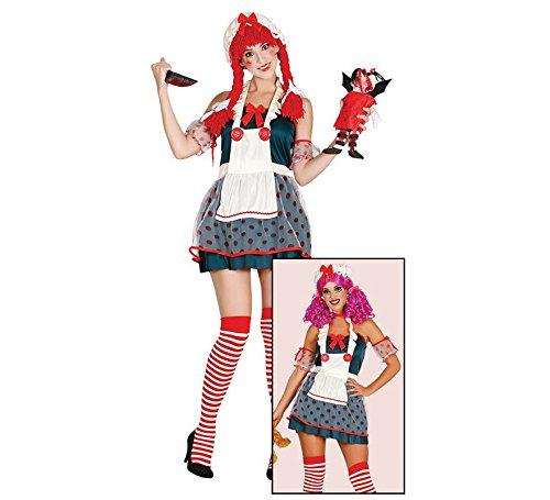 Imagen de disfraz de muñeca diabólica para mujer