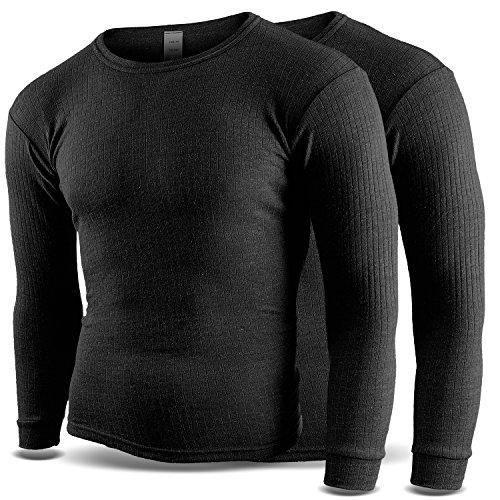 Thermounterhemd Thermounterwäsche Sport Unterhemden Herren 2 Stück langarm BlackSnake® - M - Anthrazit