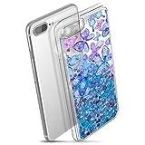 Prologfer Coque iPhone 7 Plus Liquide Sables Mouvants Coque de Protection Étoile...