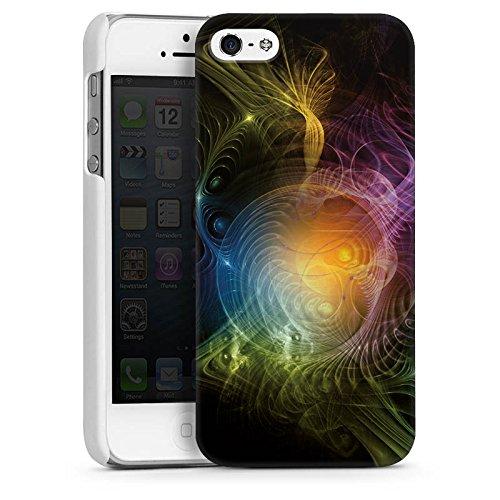 Apple iPhone 5 Housse Étui Silicone Coque Protection couleurs Motif Motif CasDur blanc