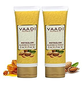 Vaadi Herbals Instaglow Almond and Honey Face Pack, 120gx2
