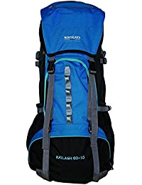 Northland Professional Kailash - Mochila, color negro / azul / azul océano, 60+10 l / 2.530 g