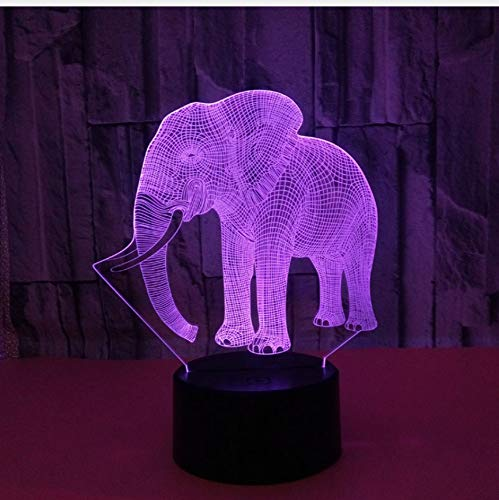 Sensor de movimiento creativo 3D Led luces de la noche Lámparas 7...