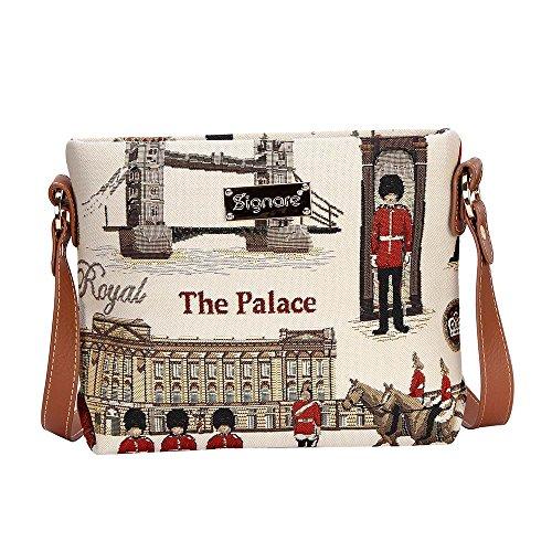 Borsetta donna Signare alla moda in tessuto stile arazzo a spalla borsa messenger a tracolla vari disegni Guardie reali