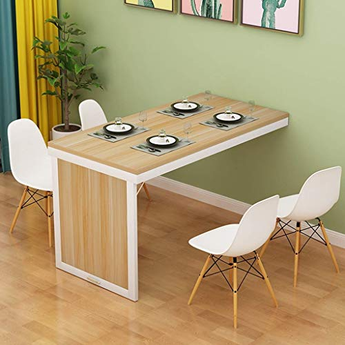 Table de salle à manger pliante fixée au mur Table convertible en MDF Bureau de bureau à domicile multifonctionnel Bureau mural Économisez de l'espace Table d'ordinateur invisible ( Color : Natural )