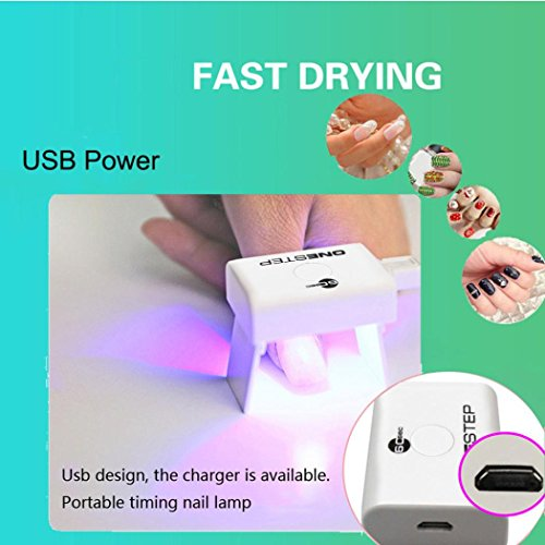 Mini Nail Lichttherapie Lampe, mamum Mini tragbare USB-Timing Nail Gel Lichthärtungsgerät Nagel Lampe Nagel Kunst Maschine