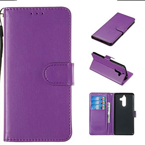 Fall kompatibel mit Nokia 7 Plus Fall, Premium-PU-Leder Brieftasche Tasche Flip Cover Herbst Anti-Scratch Defender CoverKlappe Fall kompatibel mit Nokia 7 Plus (Purple) (521 Nokia-handy-fall)