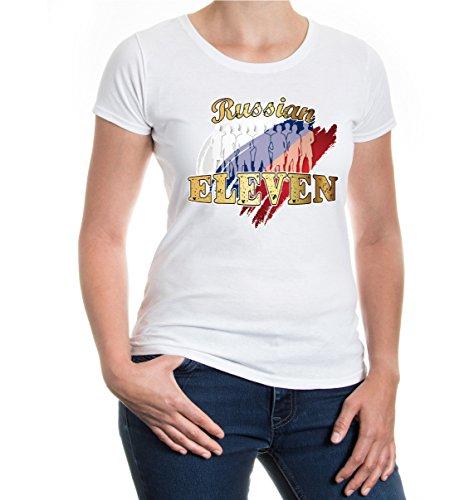 buXsbaum® Girlie T-Shirt Russian Eleven White-z-direct