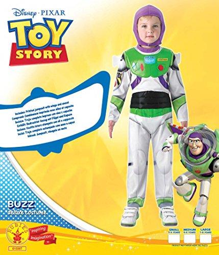 Rubies Toy Story (Disney Pixar) New Deluxe Buzz Lightyear - Kids Costume 7 - 8 Years
