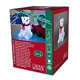Konstsmide 6159-203 LED Acrylfigur 'Eisbär sitzend' / für Innen  /  Batteriebetrieben: 3xAAA 1.5V (exkl.) / 16 kalt weiße Dioden / (B x H x T): 14 x 18 x 14 cm