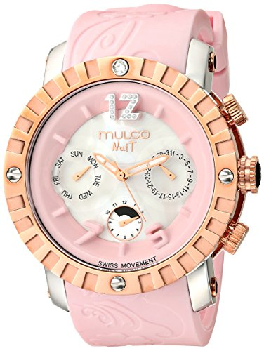 MULCO Unisex MW5-1876-813 Nuit Lace XL Analog Display Swiss Quartz Pink Montre