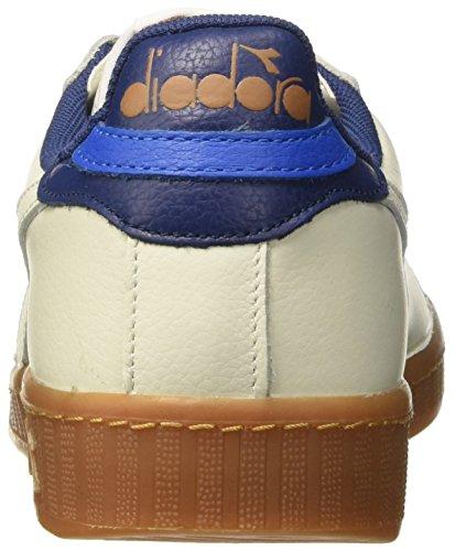 Diadora Game L Low, Chaussures de Gymnastique Homme Blanc Cassé (Bianco/blu Estate)