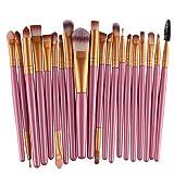 Demarkt Pro Wool Make Up Brush Set 20 pcs Makeup Brush Set tools Make-up Toiletry Kit (Gold # 2)+Gift( Nail stickers)