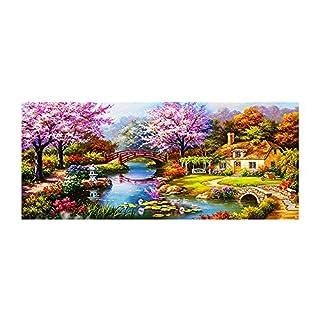AIHOME 5D Mosaik-Bild zum Besetzen mit Strasssteinen, Motiv: Blumen, mit Strasssteinen in Diamantschliff, Vinyl, D