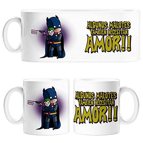 Taza Batman y Joker algunos malotes también necesitan amor - Cerámica