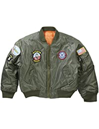 Kids and Youths MA1 Bomber Flight Jacket With Badges