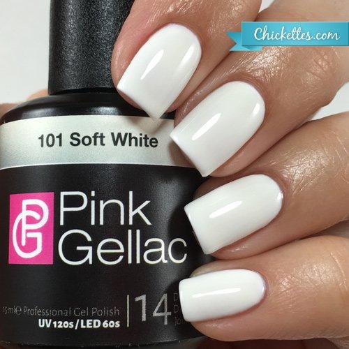 Pink GELLAC 101 DOUX Blancheur UV nagellack. Professionnel Gel Vernis à ongles gomme laque pour du moins 14 jours PARFAIT BRILLANT ONGLES