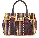 TAMARIS Handtasche, JANE KNIT, Norweger-Design, 2 Farben: mocca braun oder sangria rot, Farbe:sangria rot