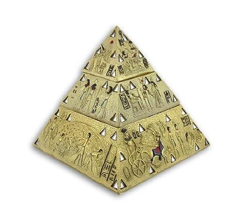 Ancien égyptien Doré Pyramide Double boîte à
