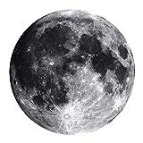 WEI Teppich Kreative Mond Stühle Teppich Rutschfeste Runde Teppich Schlafzimmer Wohnzimmer Teppich Nachttischmatte,Durchmesser 100 cm