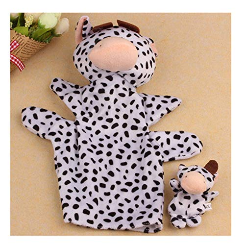 callm Most Wanted Hand Puppet 2Pcs Soft Animal Plush Doll Finger Puppet Baby Infant Kid Toy Plush Toys Gift Cow