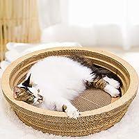 Chen0-super - Rascador de Gatos de Papel Corrugado con Forma de Cuenco y Gran Espacio para Masaje de Gatos, Juguete para moler Garras