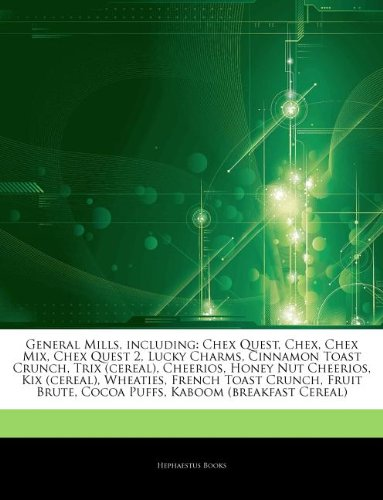 articles-on-general-mills-including-chex-quest-chex-chex-mix-chex-quest-2-lucky-charms-cinnamon-toas