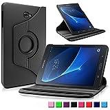 Samsung Galaxy Tab A 10.1 Funda Case, Infiland PU Cuero 360°Rotación Smart Cover Cascara con Soporte para Samsung Galaxy Tab A 10.1 pulgadas (2016) Tablet-PC(con Auto Reposo / Activación Función)(Negro)