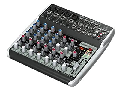 Premium 12 Input 2 Bus Mixer with XENYX Mic Preamps/Compressors/British EQs/24 Bit Multi FX Processor and USB/Audio Interface