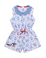 The Essential One - Baby Kids Girls - Jersey Playsuits - 4-5 Years - White - EOT288