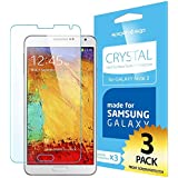 SPIGEN Samsung Galaxy Note 3 Screen Protector Clear [Crystal][3-PACK]**Value Pack** Premium Front Screen Protector for Galaxy Note III - Clear
