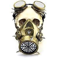 XC Steampunk Retro Parabrisas Máscara De Gas, Halloween Juego De rol Máscara Divertido Regalo,