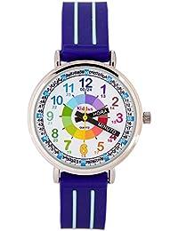KIDDUS Reloj Infantil Niño Aprender Hora Analógico Cuarzo Japonés. KI10309