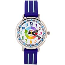 KIDDUS Reloj Infantil Niño Aprender Hora Analógico Cuarzo Japonés.