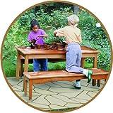 UPP Gartenplatten 30x30cm für alle Flächen geeignet - wetterfest - rutschhemmend - kinderleichte Montage/Terrassenplatten/Gartenweg/Beetplatten/Bodenplatte/Balkonplatten (6 Teile, Naturstein)