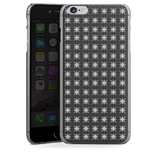 Apple iPhone 6 Housse Étui Silicone Coque Protection Motif Motif Noir gris CasDur anthracite clair