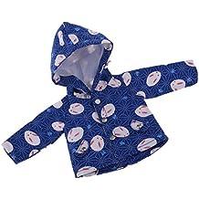 8279504df6 MagiDeal Süße Kaninchen Gedruckt Langarm Hoodied Mantel Jacke für 1/6 Puppe  Bekleidung Zubehör