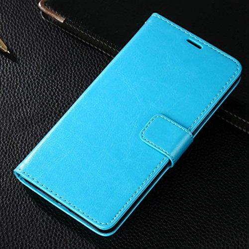 Gionee M6 Plus Hülle,CHENXI Pu Leder Wallet Case Flip Cover Hüllen mit 3 Kartenfächern Magnetverschluss mit Standfunktion Handy Tasche für Gionee M6 Plus Blau