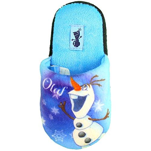 Disney Frozen Die Eiskönigin Olaf Hausschuhe für Kinder, hellblau, Gr. 25/26 - 31/32 Blau
