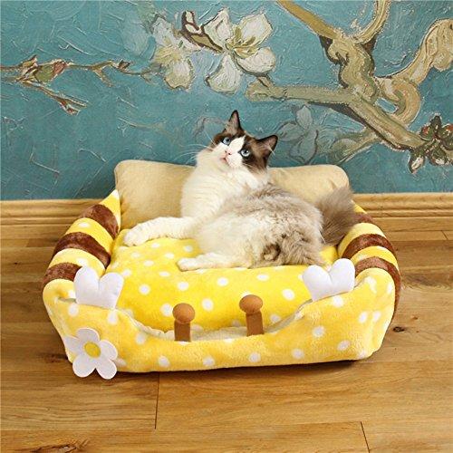 Cat'S Nest Schlafsack Pet Bed/Nest Mat/Kennel Kann Gewaschen Und Gespült Katze Versorgt, S, Bienen Werden (Bienen, Brot)